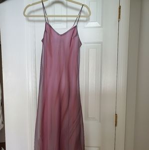 Grayish pink long dress